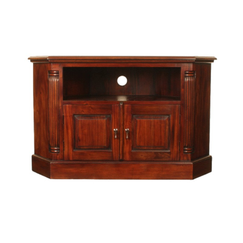 Latest Forenza Compact Mahogany Corner Television Cabinet With Regard To Mahogany Corner Tv Cabinets (Gallery 2 of 20)