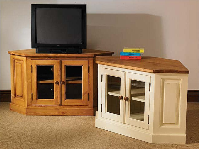 Latest Hampton Cream Painted Pine Furniture Glazed Corner Tv Cabinet Stand In Painted Corner Tv Cabinets (View 7 of 20)