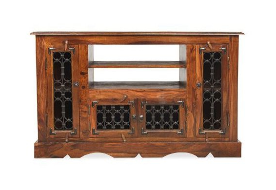Latest Heritage Furniture Indian Jali Dark Sheesham Corner Tv Cabinet – Tv Throughout Jali Tv Cabinets (View 15 of 20)