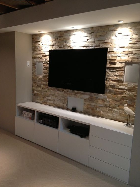 Latest Ikea Built In Tv Cabinets Inside Basement Stone Entertainment Center With Ikea Cupboards Www (View 8 of 20)