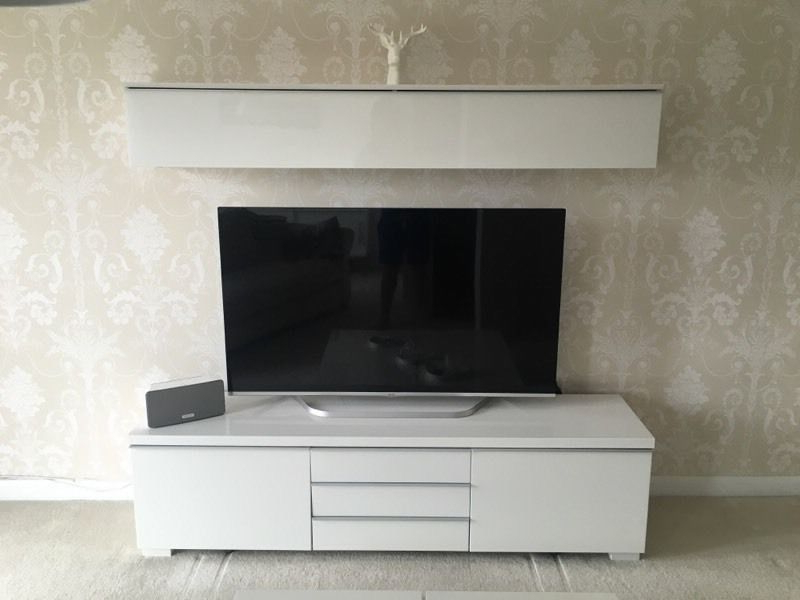 Latest Ikea Tv Stand & Shelf With Lights – In White Gloss (View 15 of 20)