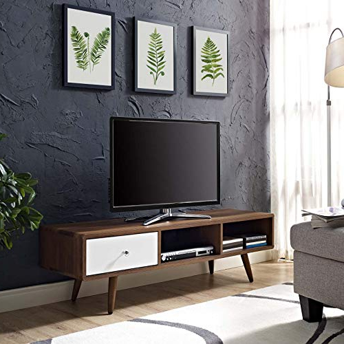 Latest Long Low Tv Cabinets Regarding Low Tv Stand: Amazon (View 4 of 20)