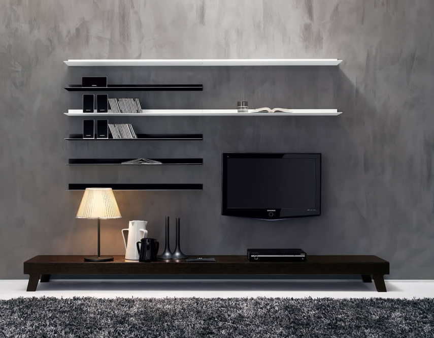 Latest Modern Lcd Tv Cases Pertaining To 40 Contemporary Living Room Interior Designs (View 4 of 20)