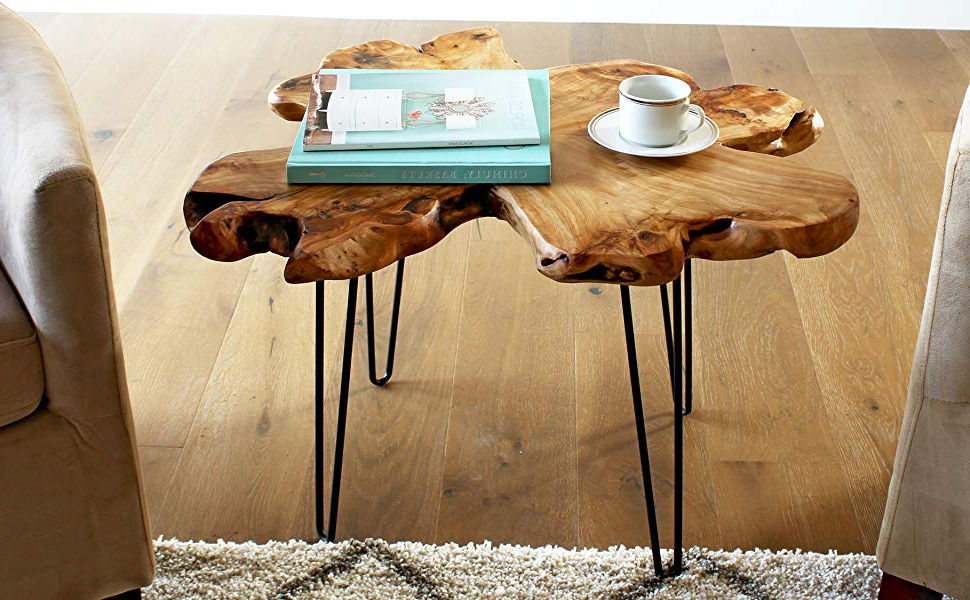 Latest Moraga Live Edge Plasma Console Tables In Amazon: Welland Live Edge Coffee Table, Wood Slab Coffee Table (View 16 of 20)