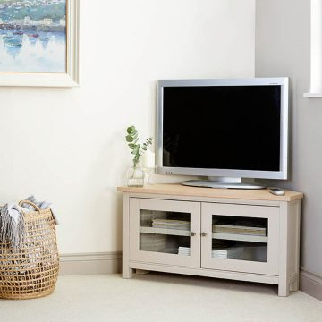Latest Painted Corner Tv Cabinets Pertaining To Oak Corner Tv Cabinets (View 8 of 20)