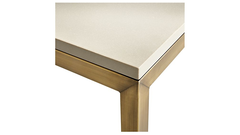 Latest Parsons Grey Solid Surface Top/ Brass Base 60x36 Large Rectangular With Parsons Grey Solid Surface Top & Brass Base 48x16 Console Tables (Gallery 1 of 20)