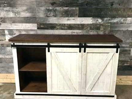 Latest Rustic Furniture Tv Stands Distressed White Stand Awesome Barn Door With Regard To Rustic Furniture Tv Stands (View 11 of 20)