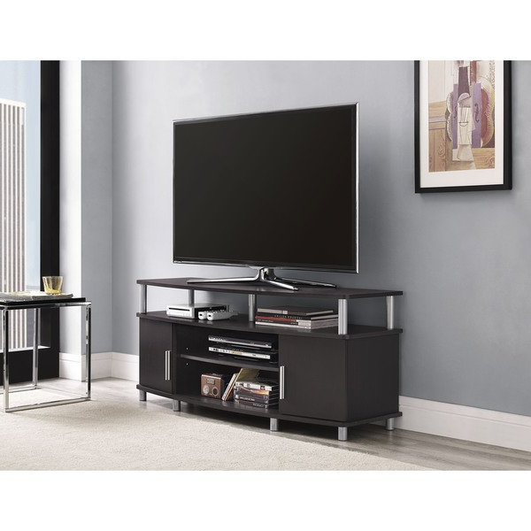 Latest Shop Avenue Greene Ford Espresso Wood 50 Inch Tv Stand – On Sale In Wooden Tv Stands For 50 Inch Tv (Gallery 14 of 20)