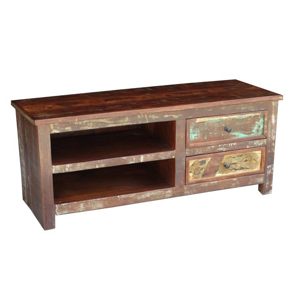 Latest Shop Handmade Timbergirl Multicolor Recycled Wood Tv Stand (India For Recycled Wood Tv Stands (Gallery 11 of 20)