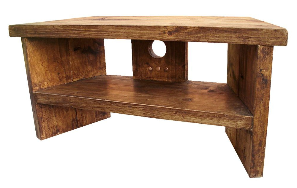 Latest Solid Wood Handmade Rustic Pine Corner Tv Stand / Unit (View 5 of 20)