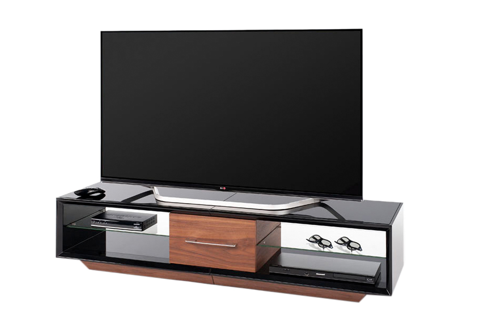 Latest Techlink Arena Aa150Bw Tv Stand High Gloss Black Carcass With A Regarding Techlink Arena Tv Stands (View 6 of 20)