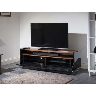 Latest Techlink Panorama Pm160+ Piano Gloss Black And Walnut Large Tv With Techlink Panorama Walnut Tv Stands (View 4 of 20)