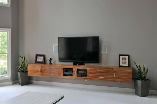 Latest Under Tv Cabinet Natural Mahogany Wood Floating Media Below Wall Inside Under Tv Cabinets (View 9 of 20)