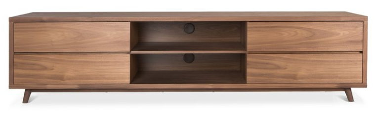 Latest Walnut Tv Cabinets With Doors Regarding Top 8 Walnut Tv Stands For A Mid Century Modern Home – Cute Furniture (Gallery 4 of 20)