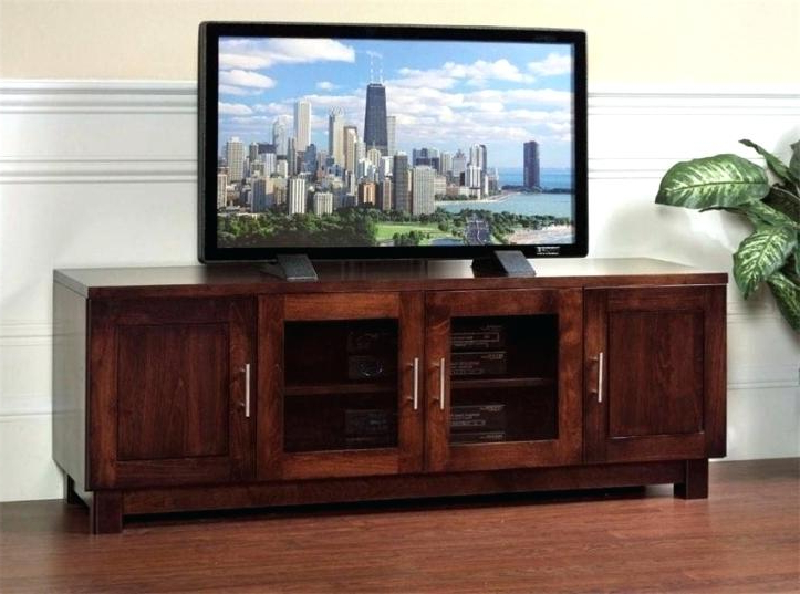 Latest Wooden Tv Cabinets With Glass Doors For Solid Wood Tv Cabinet Home Oak Stands Solid Oak Tv Cabinet Ebay (View 5 of 20)