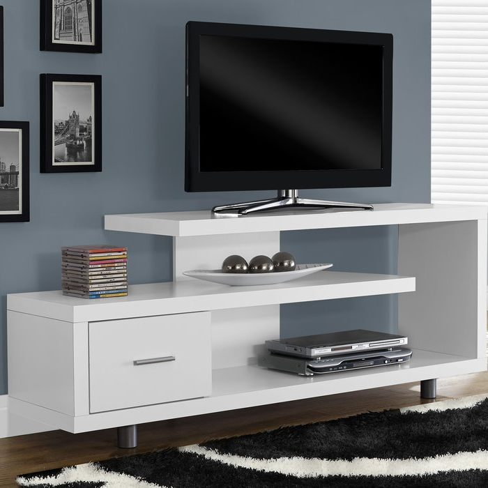 """Latitude Run Rundall Tv Stand For Tvs Up To 69"""" & Reviews (Gallery 12 of 20)"""