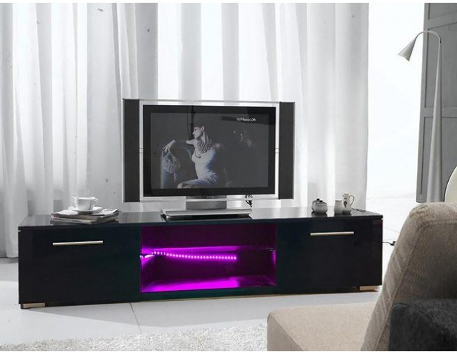 Led Tv Cabinets For Most Current Westwood High Gloss Led Tv Cabinet Tvc12 Black (Gallery 9 of 20)