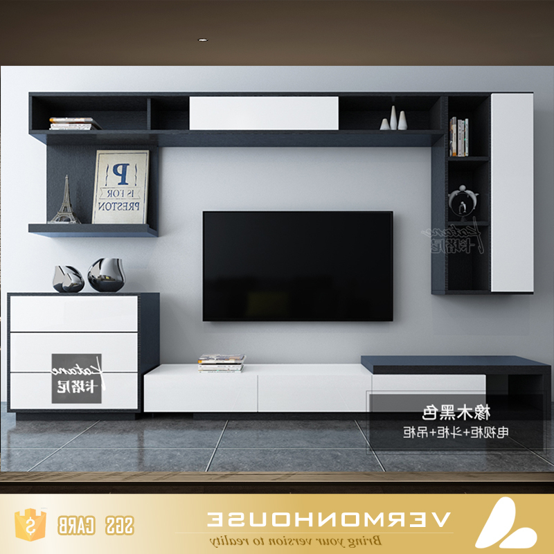 Led Tv Cabinets Pertaining To Favorite 2018 Hangzhou Vermont Modern Design Led Tv Cabinet Stand Living Room (Gallery 6 of 20)