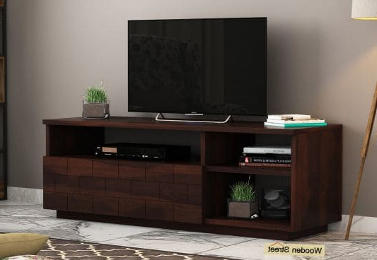 Led Tv Cabinets Regarding Best And Newest Tv Unit : Buy Wooden Tv Units & Stands (Gallery 12 of 20)