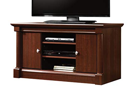 Light Cherry Tv Stands Throughout Well Liked Amazon: Sauder Palladia Panel Tv Stand, Select Cherry Finish (Gallery 4 of 20)