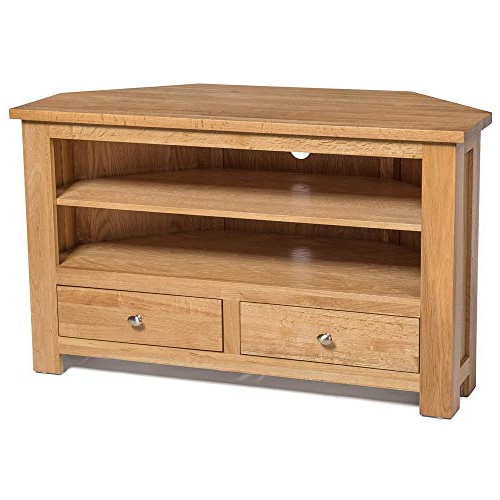 Light Oak Corner Tv Cabinets With Regard To 2018 Oak Corner Tv Cabinets: Amazon.co (View 11 of 20)