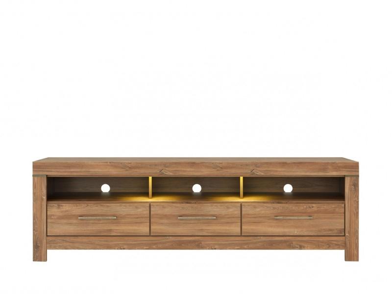 Light Oak Tv Cabinets In Current Modern Oak Finish Tv Unit Storage Drawers Tv Cabinet & Led Light (View 4 of 20)