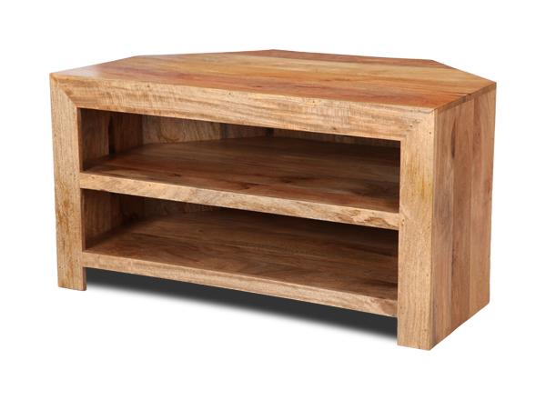 Light Oak Tv Corner Units For Most Up To Date Mango Light Corner Tv Shelf Unit (H57L)  (View 11 of 20)