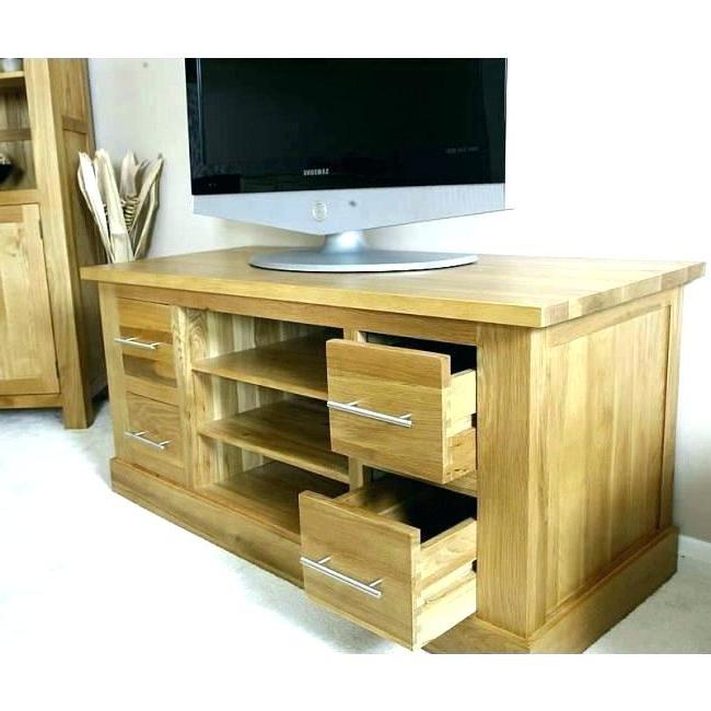 Light Oak Tv Stands Flat Screen Inside Well Known Tv Stands Oak En Light Wood Stand Oak Stands Flat Screen S (Gallery 4 of 20)