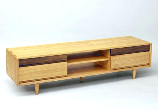 Light Wood Tv Stand The Top Plate And Side Using Solid Ash Rounded For Most Recent Tv Stands With Rounded Corners (View 6 of 20)