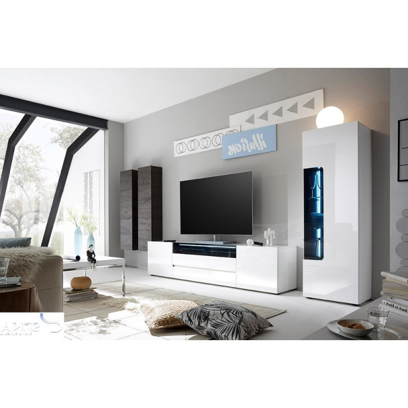 Lima Ii – High Gloss Lacquered Tv Wall Unit – Wall Units (2838 Throughout Well Known Black Gloss Tv Wall Unit (Gallery 13 of 20)