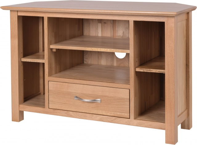 Lisbon Oak Furniture Lisbon Oak Corner Tv Unit – Tv & Media Units Within Popular Oak Corner Tv Cabinets (View 5 of 20)