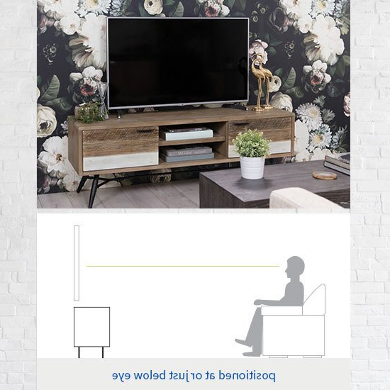 Living Spaces Throughout Noah Rustic White 66 Inch Tv Stands (View 5 of 17)