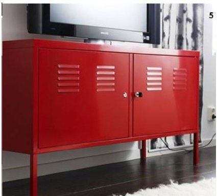 Lockable Tv Stands Intended For Well Liked Ikea Red Cabinet Tv Stand Multi Use Lockable (View 7 of 20)