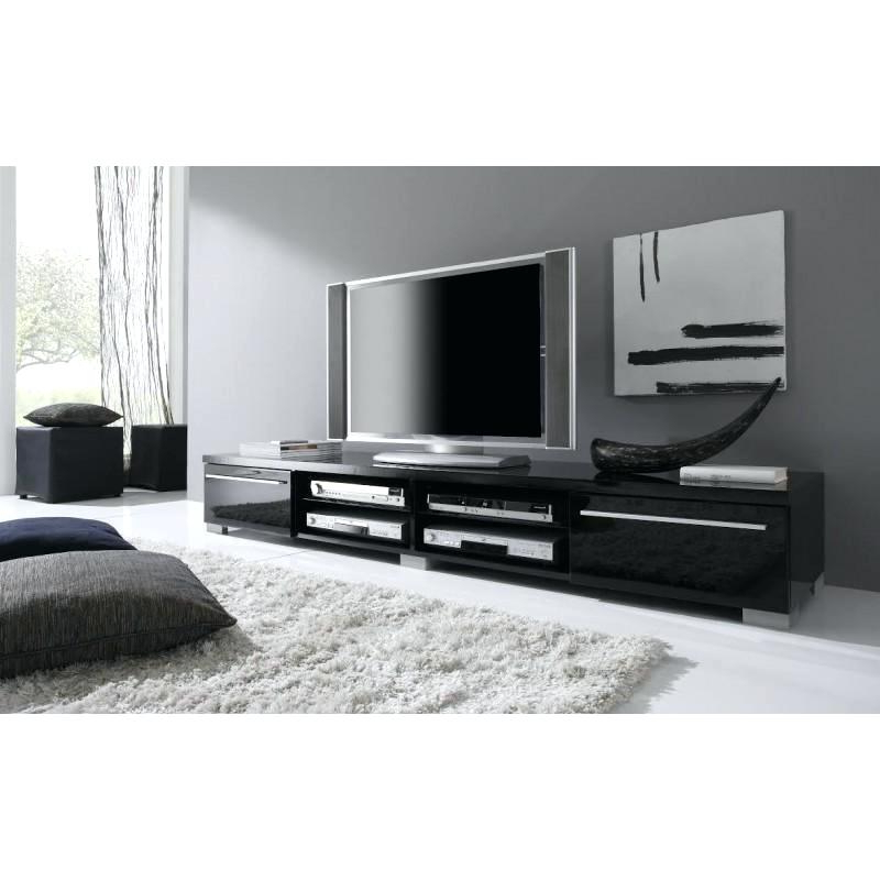Long Black Tv Stands For Popular Cheap Black Tv Stands Black Wood Inch Stand With Mount Black Glass (Gallery 1 of 20)