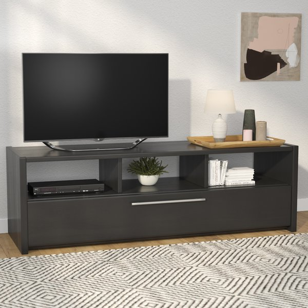 "Long Black Tv Stands With Regard To Well Liked Latitude Run Isla Black Tv Stand For Tvs Up To 60"" & Reviews (Gallery 12 of 20)"