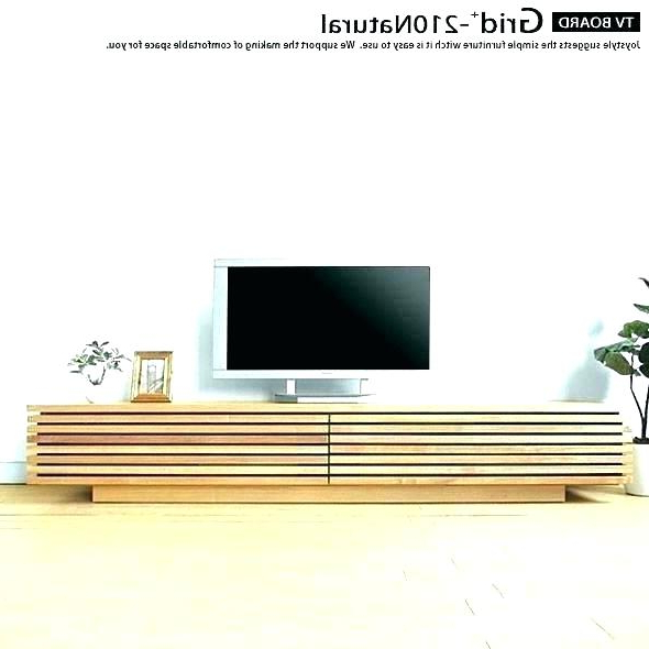 Long Low Tv Cabinets Pertaining To Widely Used Low Tv Stand On Wheels – Salsakrakow (View 5 of 20)