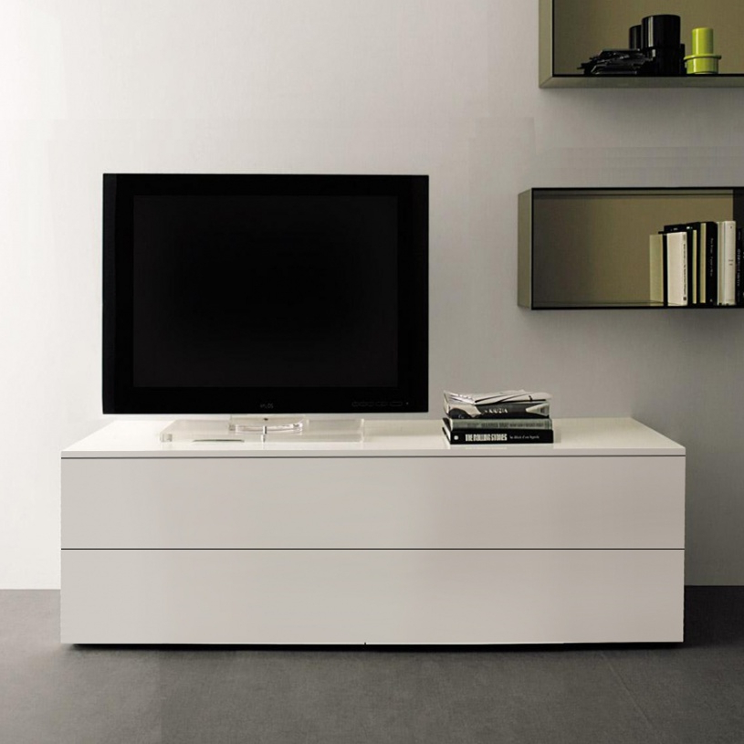 Long White Tv Stands Inside Well Known Space Small Tv Unit, White Gloss (Gallery 14 of 20)