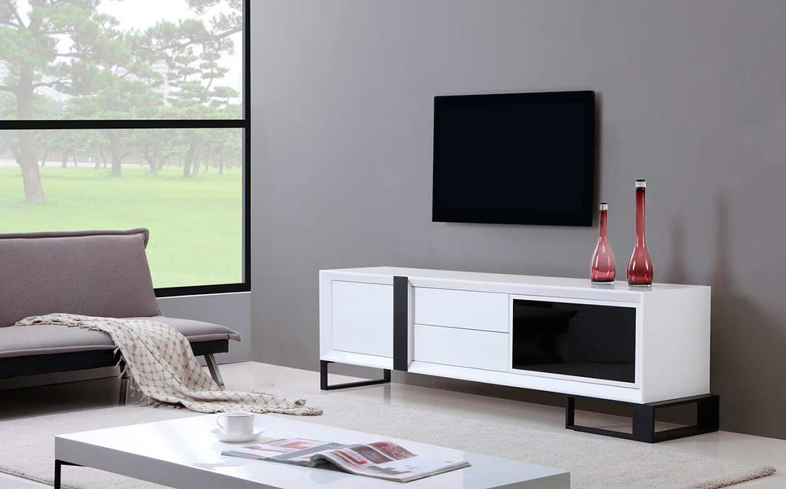 Long White Tv Stands Throughout Favorite Extra Long Modern White Tv Stand Bm 36 (Gallery 10 of 20)