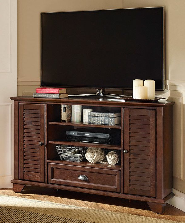 Look At This Mahogany Palmetto Corner Tv Stand On #zulily Today In Famous Mahogany Tv Stands (View 7 of 20)