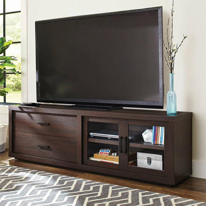 Low Corner Tv Stands Inside Most Up To Date Tv Stands & Entertainment Centers – Walmart (View 9 of 20)