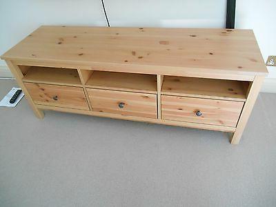 Low Level Tv Storage Units Pertaining To Latest Ikea Hemnes Light Wood Pine Low Level Storage Tv Cabinet 3 Drawer (Gallery 16 of 20)