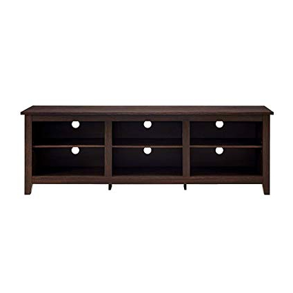 "Low Profile Contemporary Tv Stands In 2017 Amazon: Large Wooden Tv Stand Corner 70"" Low Brown Espresso (Gallery 9 of 20)"