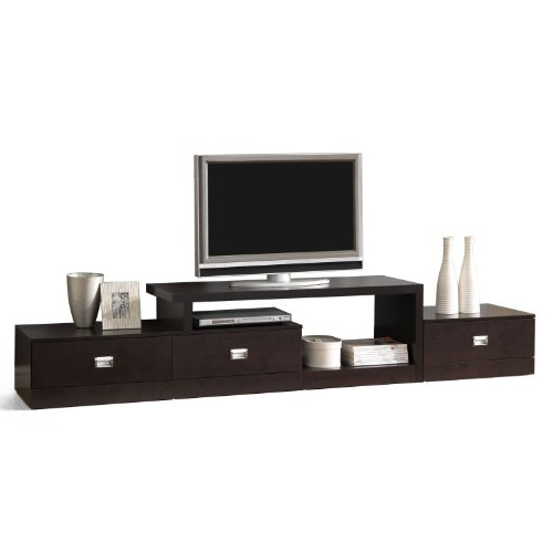 Low Profile Contemporary Tv Stands Intended For Newest Amazon: Baxton Studio Marconi Brown Asymmetrical Modern Tv Stand (Gallery 6 of 20)