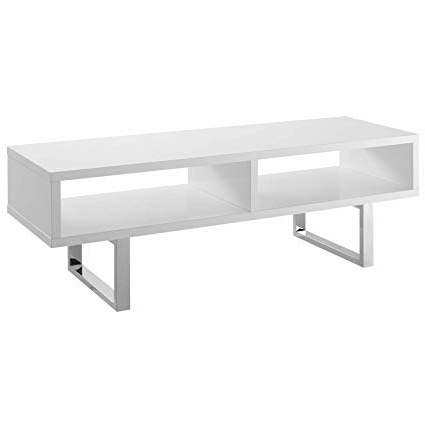 Low Profile Contemporary Tv Stands Intended For Well Liked Amazon: Modway Eei 2680 Whi Amble Contemporary 47 Inch, Tv Stand (Gallery 15 of 20)