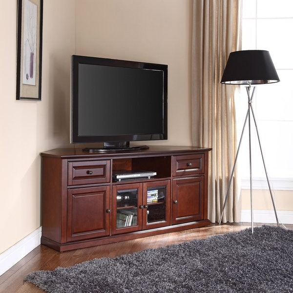Mahogany Corner Tv Cabinets For Favorite Shop Vintage Mahogany 60 Inch Corner Tv Stand – Free Shipping Today (View 14 of 20)