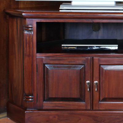 Mahogany Corner Tv Cabinets Intended For Well Known La Roque Solid Mahogany Corner Tv Unit – Robson Furniture (View 7 of 20)