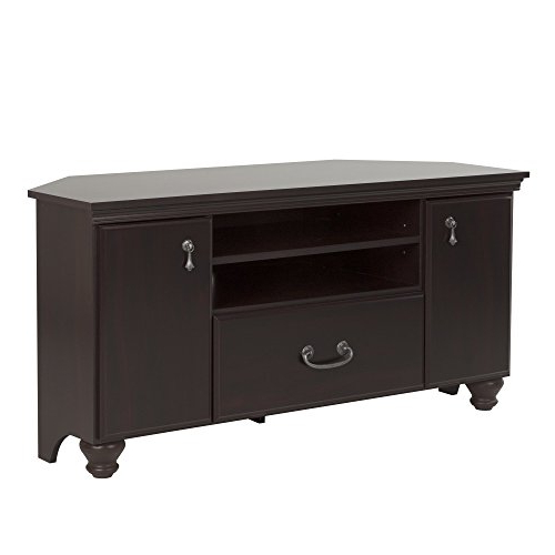 Mahogany Corner Tv Stands Intended For Well Known Noble Corner Tv Stand – Fits Tvs Up To 55'' Wide – Dark Mahogany (View 9 of 20)