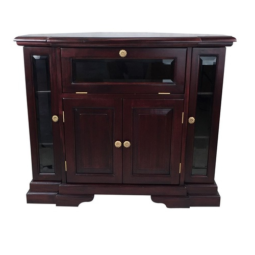 Mahogany Corner Tv Stands Regarding Latest Solid Mahogany Wood Corner Tv Stand / Cabinet – Antique Reproduction (View 10 of 20)