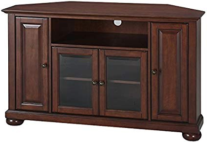 Mahogany Tv Stands With Famous Amazon: Crosley Furniture Alexandria 48 Inch Corner Tv Stand (View 13 of 20)