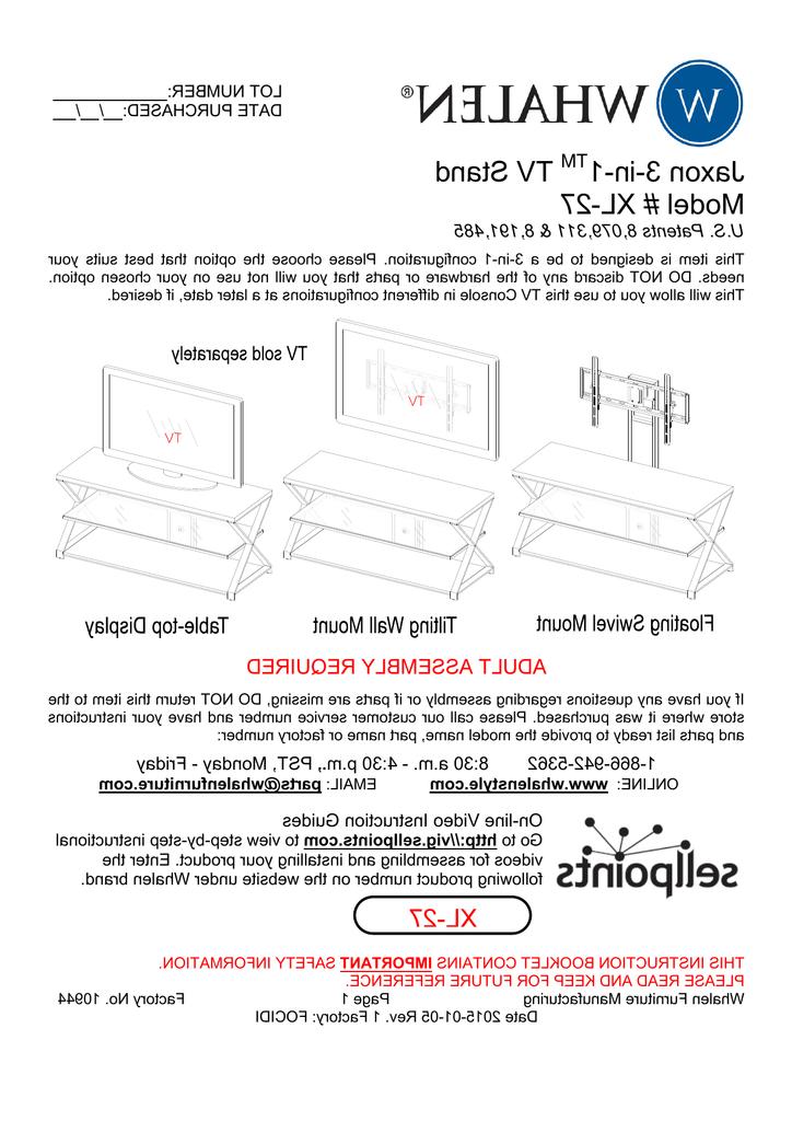 Manualzz Regarding Jaxon 71 Inch Tv Stands (View 12 of 17)